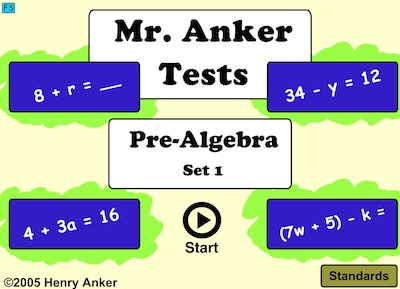 Pre Algebra Set 1 (Mr Anket Tests)