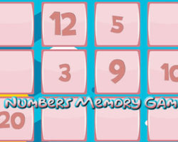 Memory Game with Number
