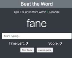 beat the word